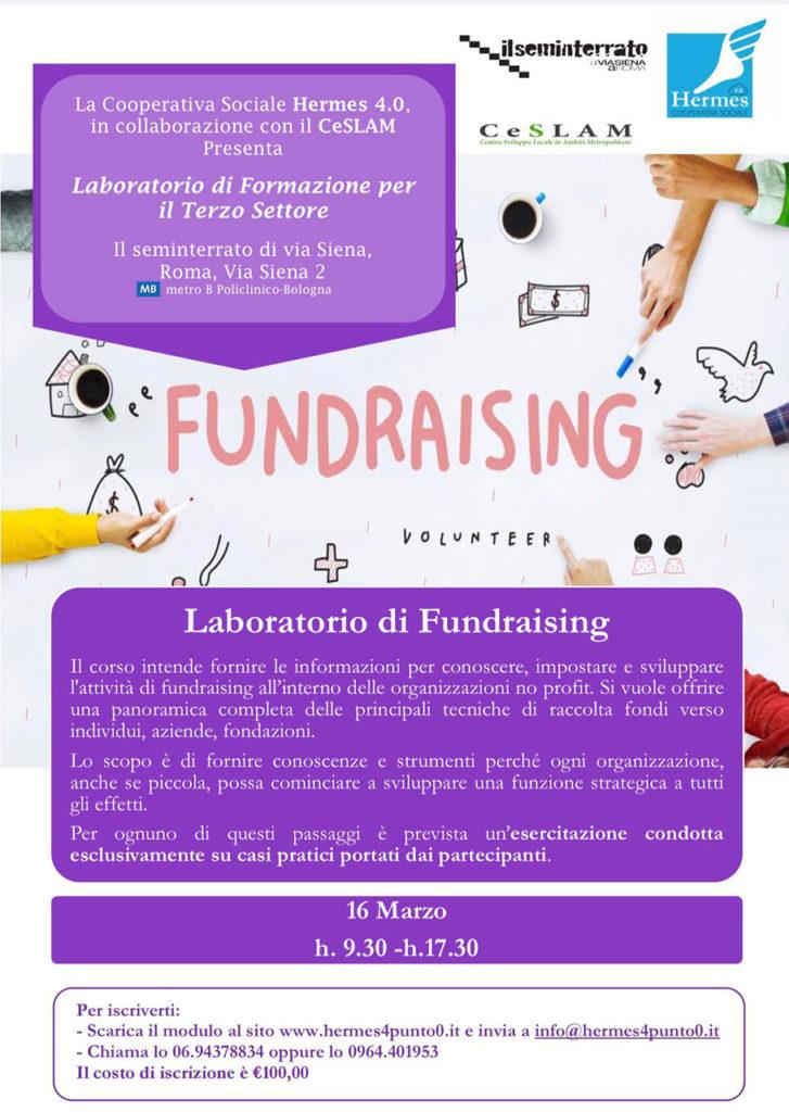 Laboratorio di fundraising al Seminterrato di Via Siena ...