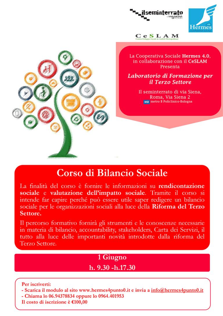 Corso di Bilancio Sociale, 1 giugno 2019 a Roma presso il ...